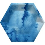 "Plates - Blue Marble - Hexagon - 8 PK - 8"""