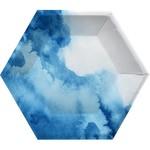 Plates - Blue Marble - Hexagon - 8 pk