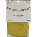 Banner - Congratulations - Glitter Gold - 11.25ft