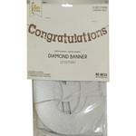 Banner - Congratulations - Glitter Silver - 11.25ft