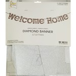 Banner - Welcome Home - Silver Glitter - 11.25ft