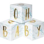 """Centerpiece - Baby Blocks Foil - 6""""X6"""" - 3 pcs"""