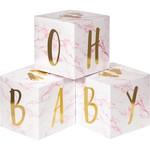 Centerpiece - Baby Blocks - Foil - 3 pcs