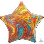 "Foil Balloon - Multi Color Marble - 18"""