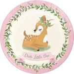 Plates - LN - Deer Little One - 8 PK