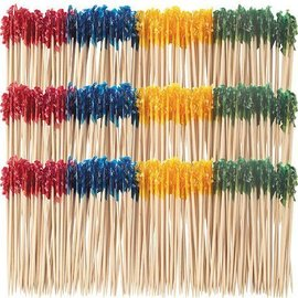 """Frilled Toothpicks- Assorted Colours- 1000Pk/4"""""""