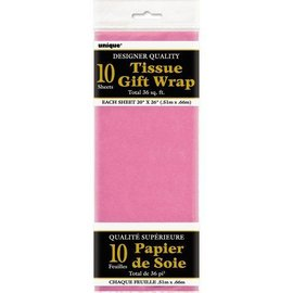 """Tissue Gift Wrap-Hot Pink-10 Sheets (20""""x26"""" Each)"""