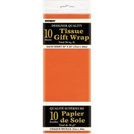 "Tissue Gift Wrap- Orange- 10 Sheets (20""x26"" Each)"