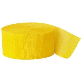 Paper Crepe Steamer- Hot Yellow- 81ft x 1.75""