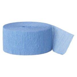 "Paper Crepe Streamer- Baby Blue (81ft x 1.75"")"