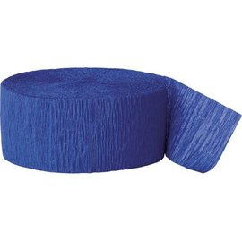 "Paper Crepe Streamer- Royal Blue (81ft x 1.75"")"