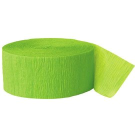 "Paper Crepe Streamer- Lime Green (81ft x 1.75"")"