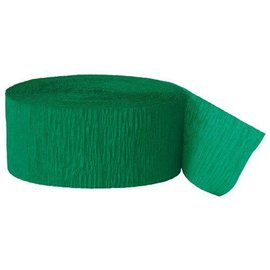 "Paper Crepe Streamer- Emerald Green (81ft x 1.75"")"