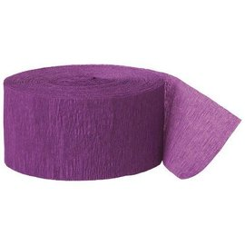 Paper Crepe Streamer- Purple