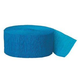 """Paper Crepe Streamer-Turquoise-1pkg-1.75""""x500ft"""