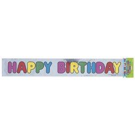 "Banner-Metallic-Happy Birthday-1pkg-3.25""x12ft"