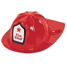Hat-Fire Chief-Red-Plastic