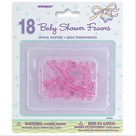 Pacifier-Mini-Baby Shower-Pink-1''-18pk