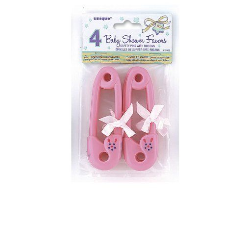 Large Pink Plastic Nappy Pins Baby Shower Favours//Decorations