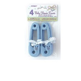 Safety Pins-Blue-Baby Shower Favours-4pk-Plastic