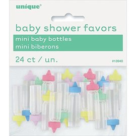 Baby Bottles-Tiny-Baby Shower-Multi Color-24pk