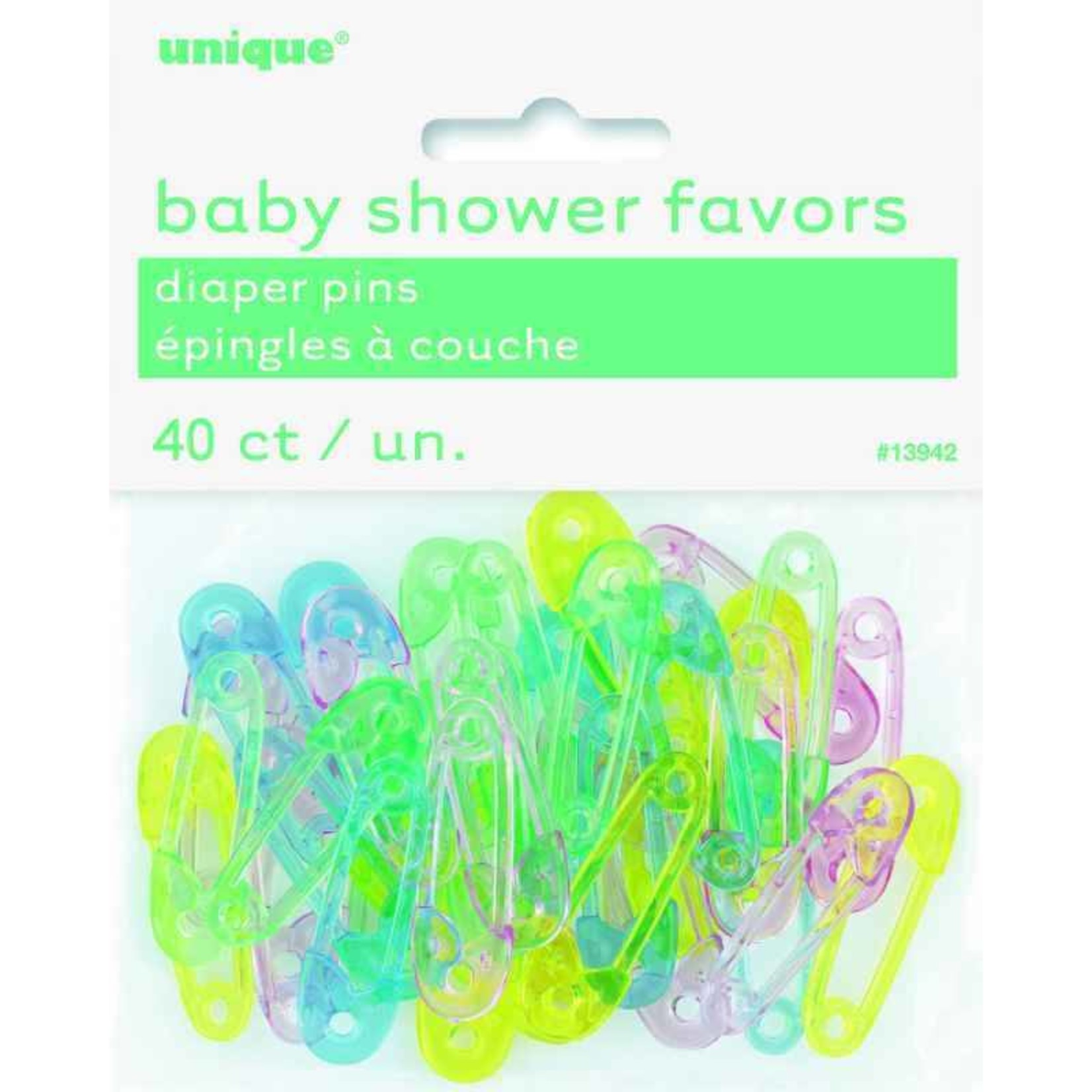 Baby Favors-Diaper Pins-40pkg