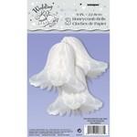 "Honeycomb Bells- White- 3pk/9"""