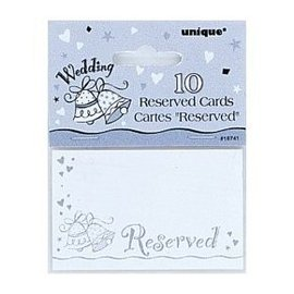 Place Cards-Wedding Bell-Reserved-10pk/3.4''