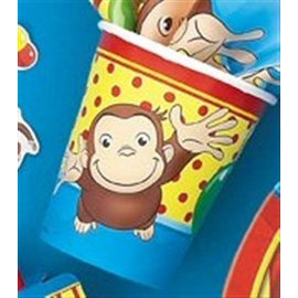 Cups-Curious George-Paper-8pk - Final Sale