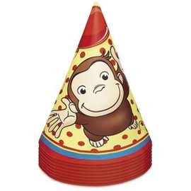 Hats-Cone-Curious George-8pk