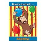 Invitations-Curious George-8pk