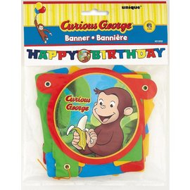 Jointed Banner-Curious George Birthday-1pkg-4.25ft
