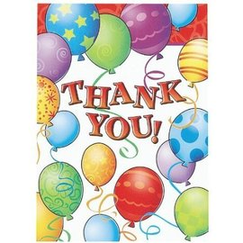 Thank You Cards-Festive Balloons-8pkg