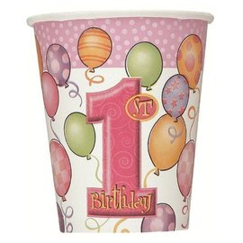 Cups-1st Bday Girl-Paper- Final Sale