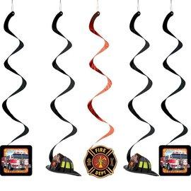 """Danglers-Foil Swirl-Firefighter-5pkg-30"""""""