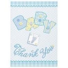 Thank You Cards-Baby Stitching Blue-8pk
