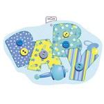 Cutout-Baby Blue Stitching-1pkg