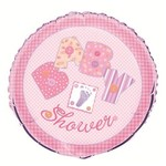 """Foil Balloon - Baby Stitching - Pink - 18"""""""