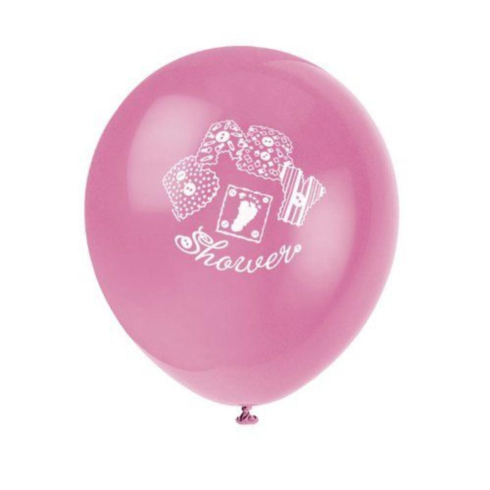 Balloon-Latex-Pink baby Stitching-12''-8pk