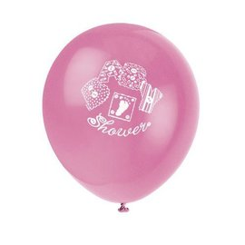 Balloon-Latex-Pink baby Stitching-12''-8pk