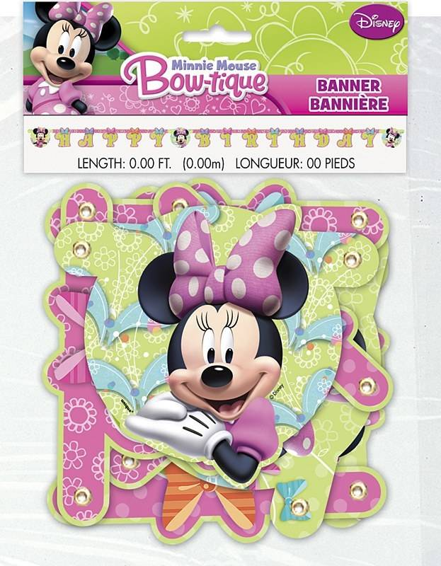 Banner Minnie Mouse Bow Tique 666ft Victoria Party Store