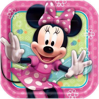Plates Ln Minnie Mouse Bow Tique 8pk Paper Victoria Party Store