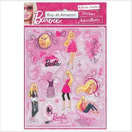 Stickers-Barbie-4 Sheet