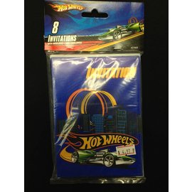 Invitations-Hot Wheels-8pk