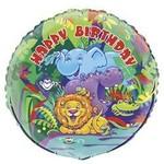 Foil Balloon - Smile Safari Happy Birthday - 18''