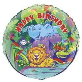 Foil Balloon - Smile Safari Happy Birthday - 18''