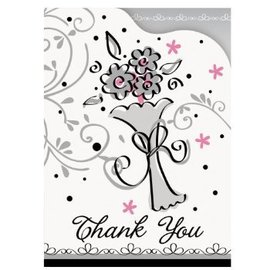 Thank You Cards-Wedding Style-8pkg