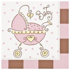 Napkins-LN-Baby Joy Pink-16pk-2ply