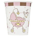 Cups-Baby Joy Pink-Paper-9oz-8pk - Discontinued