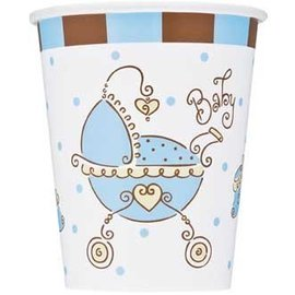 Cups-Baby Joy Blue-Paper-9oz-8pk - Discontinued